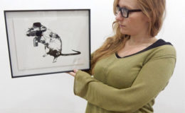 View the Brilliant Blek Le Rat Stencilled Rat