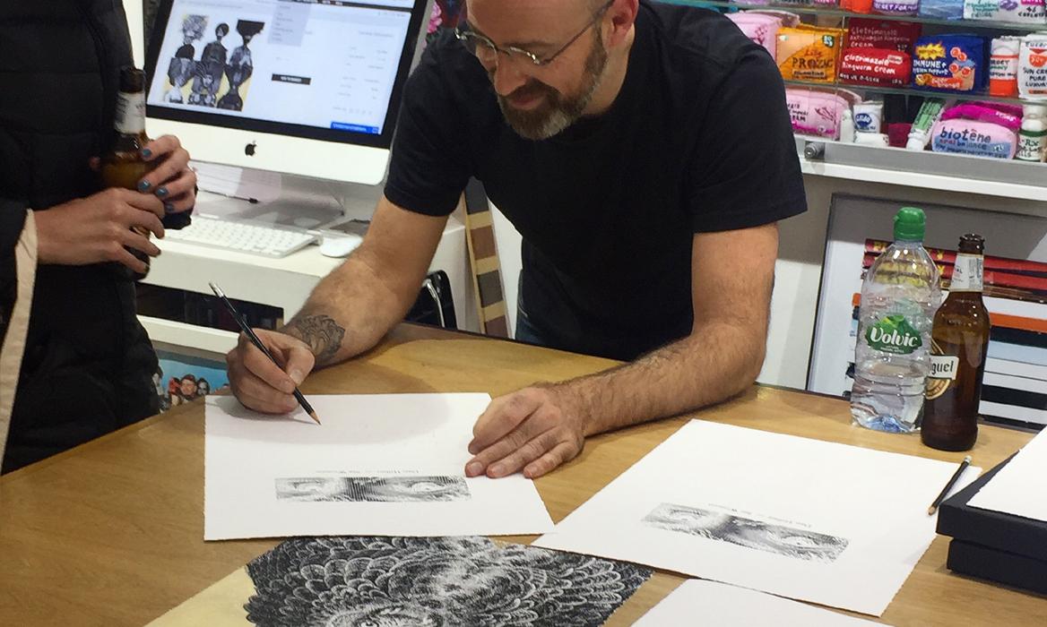 Dan Hillier in our Brighton Gallery