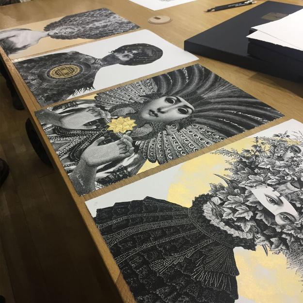 Dan Hillier Six Women Art Prints Set