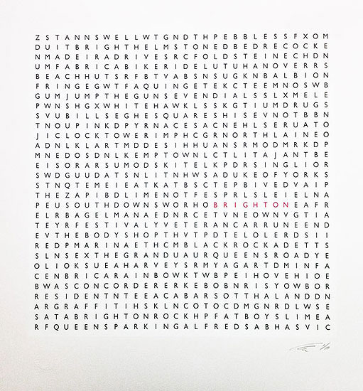 Brighton Word Search by Clive Sefton