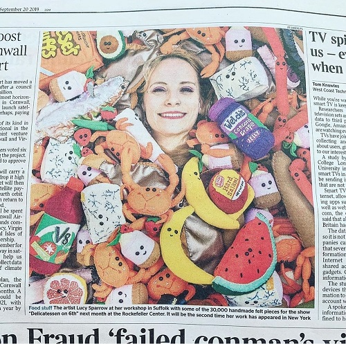 Lucy Sparrow Delicatessen on 6th in The Times